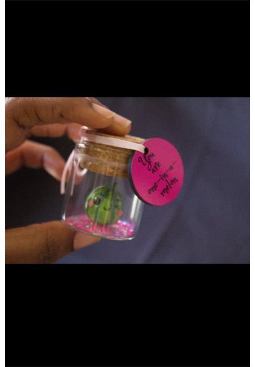 Melon message in a bottle