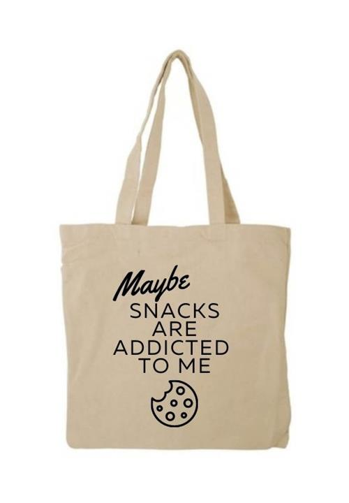 Snacks Are Addicted To Me tote