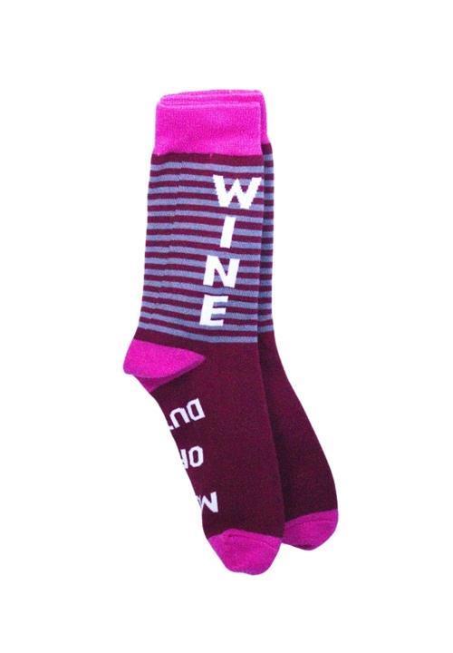 Mom Off Duty...Bring Wine socks