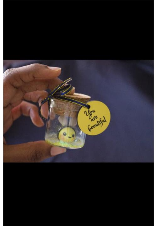 Bee message in a bottle