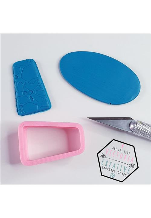 ABSTRACT RECTANGLE POLYMER CLAY CUTTER