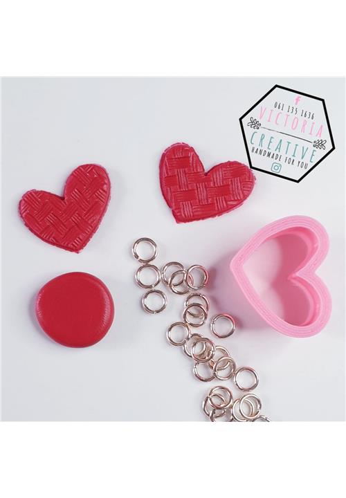 ABSTRACT HEART POLYMER CLAY CUTTER