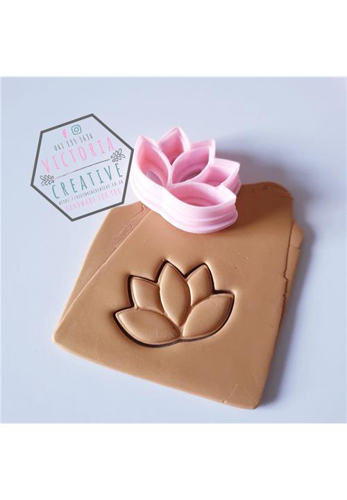 LOTUS FLOWER EMBOSSING CUTTER - POLYMER CLAY CUTTERS