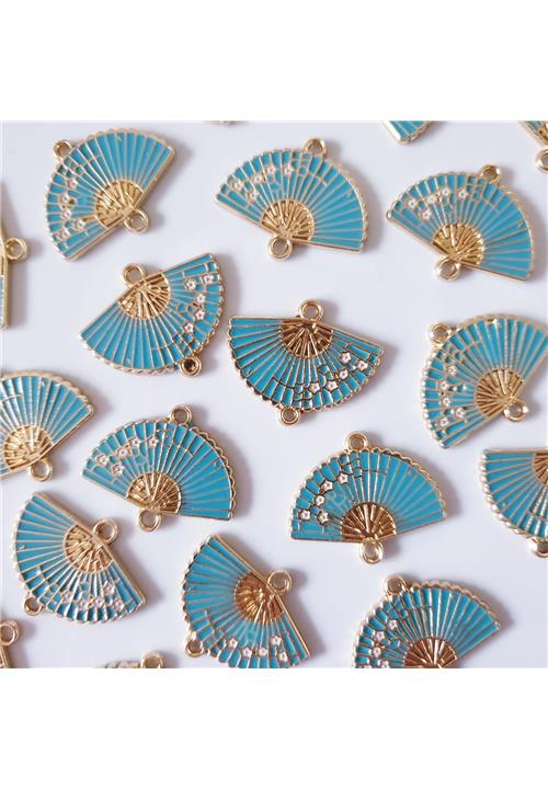 GOLD AND BLUE CHINESE FAN FINDINGS - NICKEL FREE