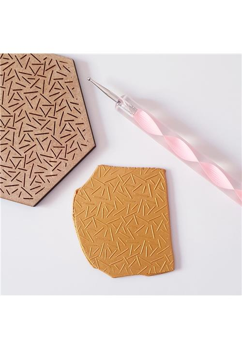CONFETTI PATTERN EMBOSSING TEXTURE