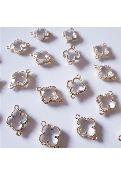 CLEAR CRYSTAL FINDINGS WITH NICKEL FREE GOLD