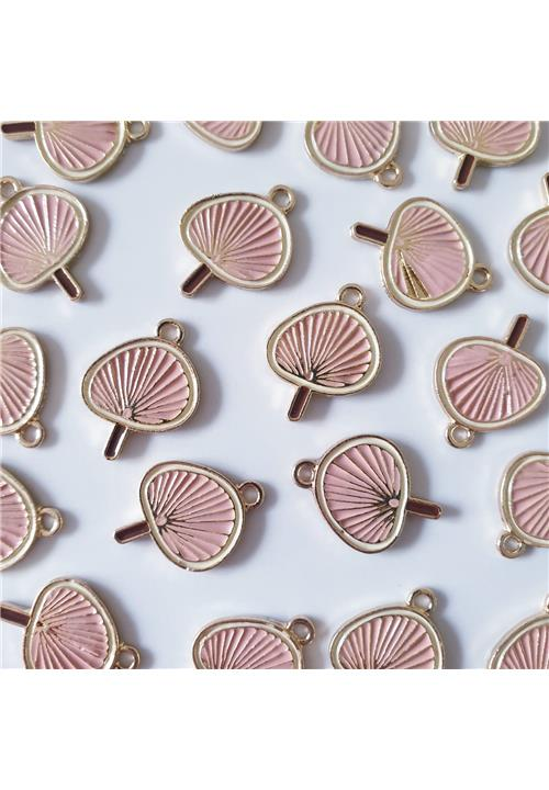 GOLD AND PINK LILY PAD FINDINGS - NICKEL FREE