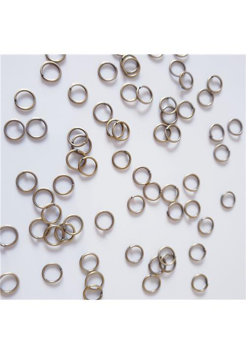 ANTIQUE GOLD JUMP RINGS - NICKEL FREE