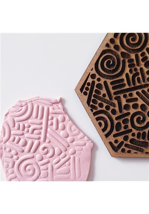 ABSTRACT TRIBAL EMBOSSING TEXTURE